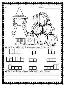 Sight Words {October Edition}