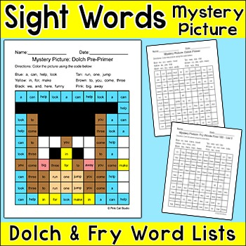 End of the Year Activities Sight Words Owl Graduate Hidden Picture