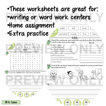 Sight Words Oxford Word List 101-200 Vocabulary and Writing Activities
