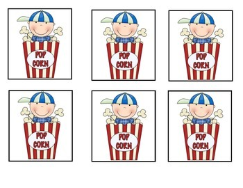 Sight Words ~ POPCORN! Set B