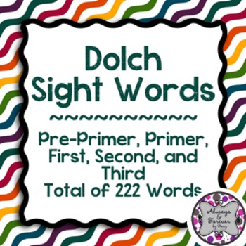 Sight Words Pack 2!