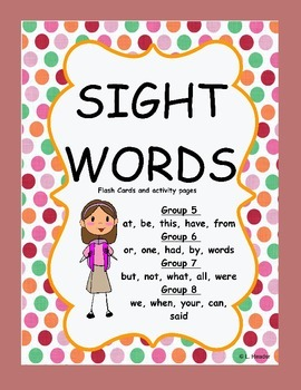 Sight Words Packages 5 - 8 Bundled