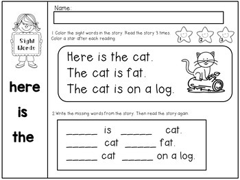 Sight Word Passages for Beginning Readers