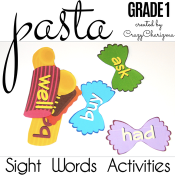 Sight Words Activities - Pasta Grade 1