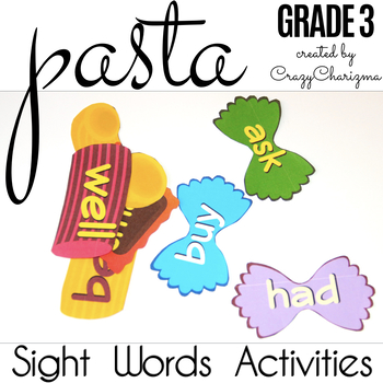 Sight Words Activities - Pasta Grade 3