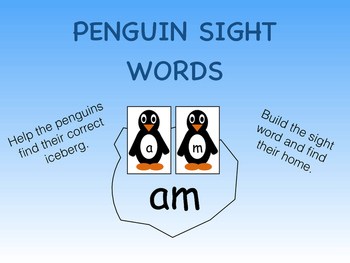 Sight Words- Penguin Themed