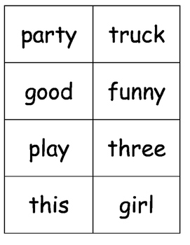 Sight Words, Phonics, and Sentence Flash Cards - SET 10