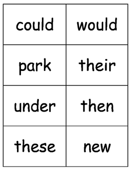 Sight Words, Phonics, and Sentence Flash Cards - SET 4