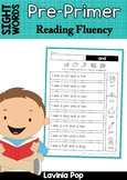 Sight Word Reading Fluency: Pre-Primer Sight Words Distance Learning