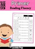 Sight Word Reading Fluency: Primer Sight Words