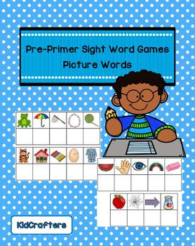 Sight Words Picture Spelling