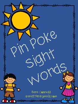 Sight Words ~ Pin Poke ~ Literacy Center