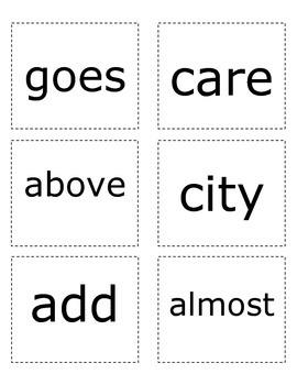 Sight Words- Pink List