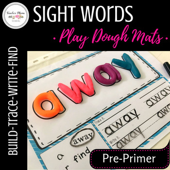 Sight Words Play Dough Mats / Activity Mats (Pre-Primer)