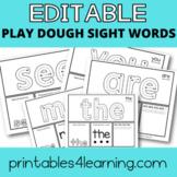 Editable Sight Words Play Dough Mats