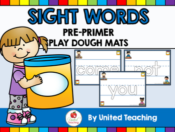 Sight Words Play Dough Mats - Pre Primer