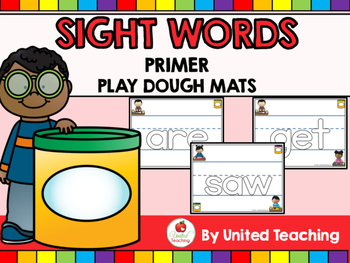 Sight Words Play Dough Mats - Primer