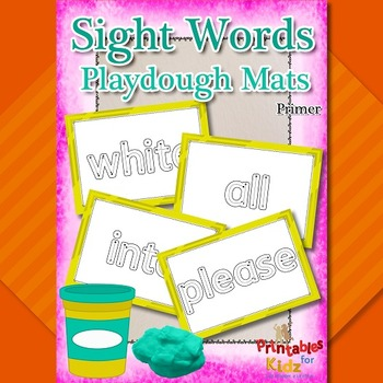 Primer Sight Words Playdough Mats