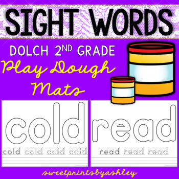 Sight Words Playdough Mats (Dolch Second Grade Words)