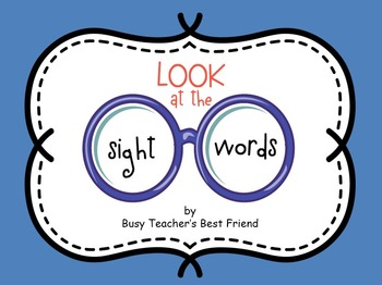 Sight Words PowerPoint Presentation and Flash Cards for Memory Matching Game