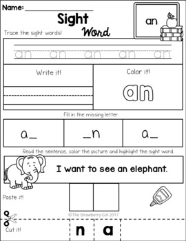 Sight Word Practice - First Grade