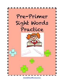 Pre-Primer Sight Words : Practice