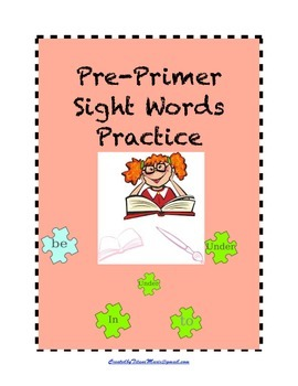 Pre-Primer Sight Words : Practice