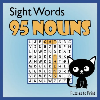 Nouns Word Search Puzzle Pack