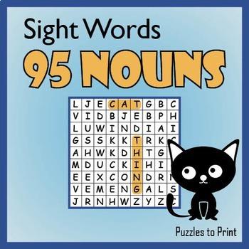 Nouns Word Search Puzzle Bundle