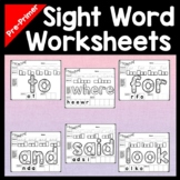 Sight Word Worksheets for Kindergarten {40 Pages!}