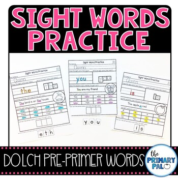 Pre-Primer Sight Words Practice
