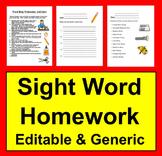 Sight Words Homework Activities & Ideas for Practice