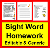 Sight Words Homework Activities & Ideas for Practice