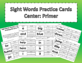 Sight Words Practice Cards Center: Primer