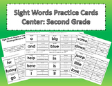 Sight Words Practice Cards Center: Second Grade