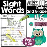 Sight Words Second Grade