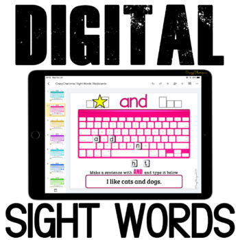 Sight Words Practice {Keyboards} for Google Classroom