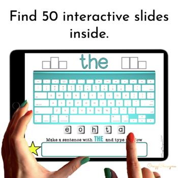 Google Classroom™ Activities Sight Words Activities for Kindergarten (keyboards)