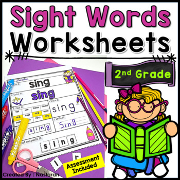 Sight Words Practice Pages  +Assessment {2nd Grade }