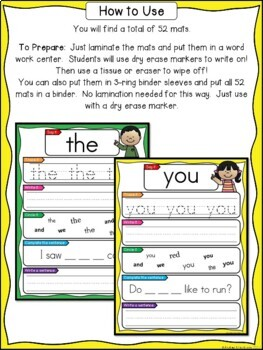 Sight Words Practice - Primer Words