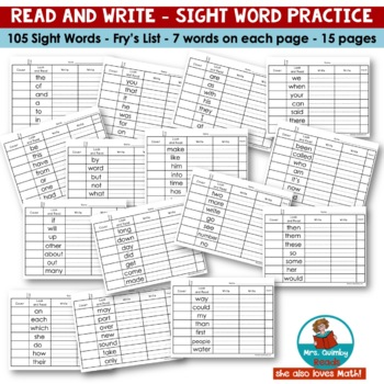 Sight Words | [Practice] | Read and Write | Reading