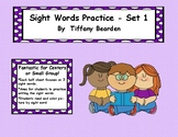 Sight Words Practice - Set 1