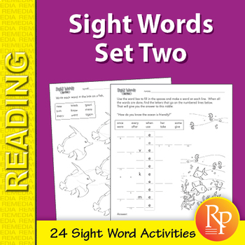 Sight Words Practice: Set Two