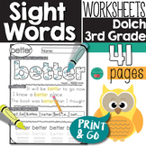 Sight Words Third Grade