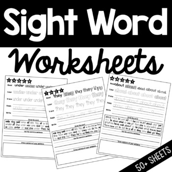Sight Words Practice Worksheets