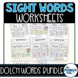 Sight Words Practice Worksheets Bundle