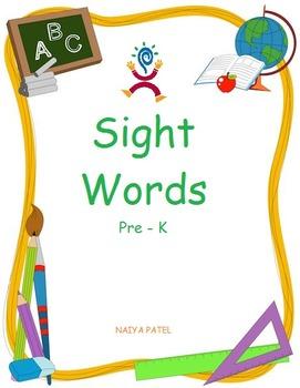 Sight Words Pre-K