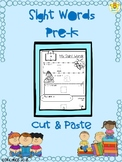 Sight Words Pre K-Cut&Paste