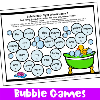 Dolch Sight Words Games Pre Primer List