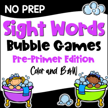 image regarding Free Printable Sight Word Games titled Dolch Sight Words and phrases Pre Primer Record Video games for Facilities or Research